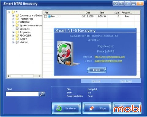 Smart NTFS Recovery 4.1 (Portable)