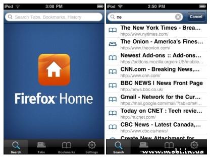Приложение Firefox Home стало доступно для платформы iOS
